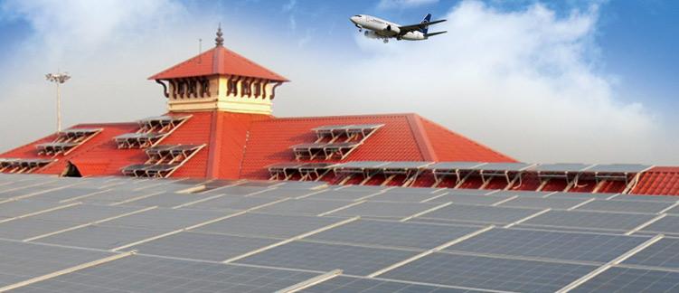 Cochin International Airport Kerala Vikram Solar