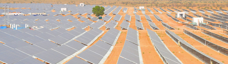 Solar power facility for NVVN, Rajasthan, India