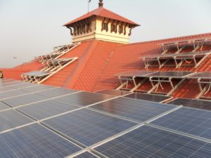 Cochin International Airport 100 kW solar rooftop installation